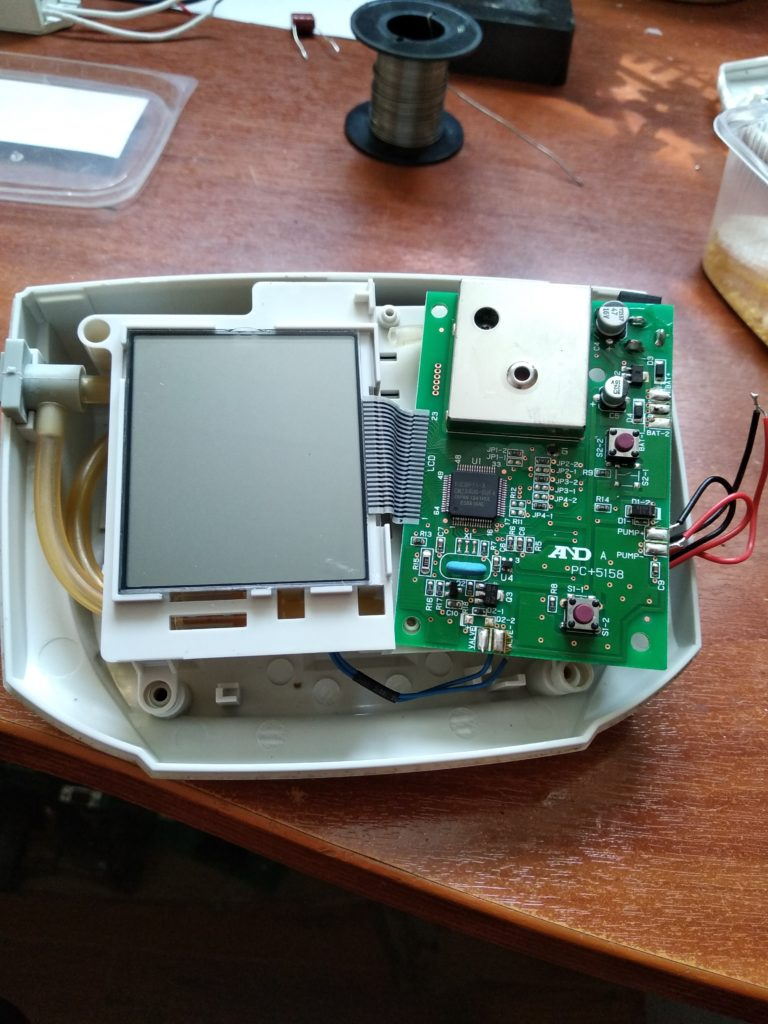 Тонометр AnD в разобранном виде
